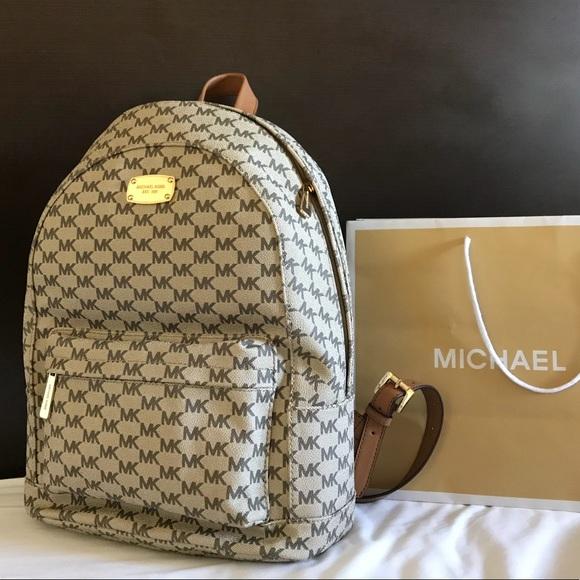b4c05237fe4f New  298 Michael Kors JET SET Backpack MK Handbag